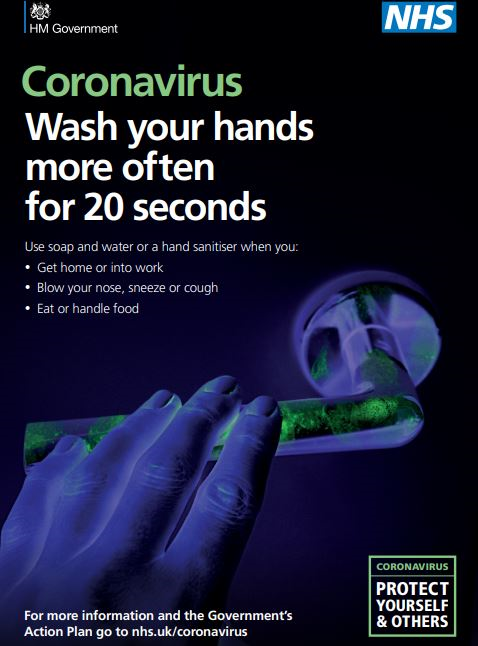 Coronavirus: Wash your hands more often and for 20 seconds